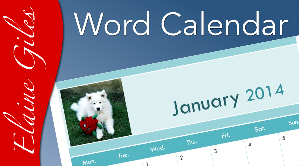 Video: Making a Calendar with Word
