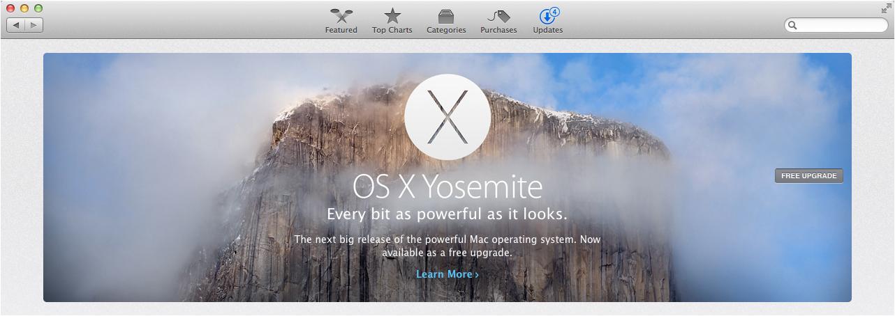 Mac App Store Yosemite Download