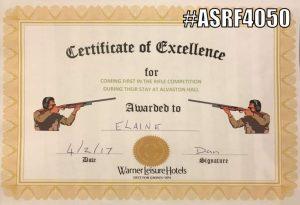 Winner's Certificate