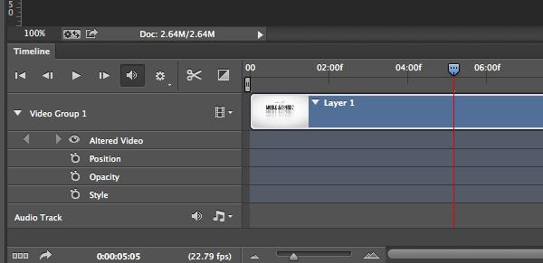 Photoshop Video Timeline Panel