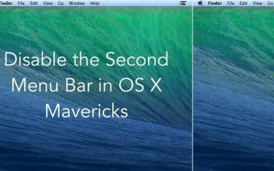 How to Disable the Second Menu Bar in OS X Mavericks