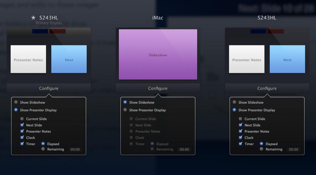 Keynote on Three monitors