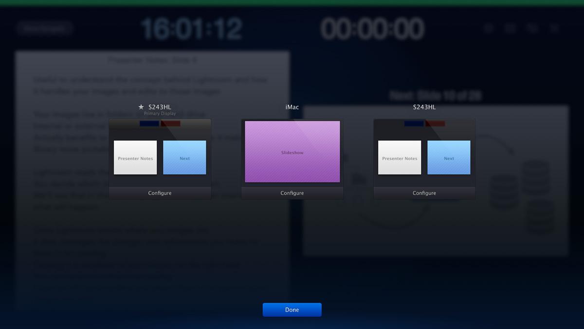 Keynote Presenter View Three Monitors Options