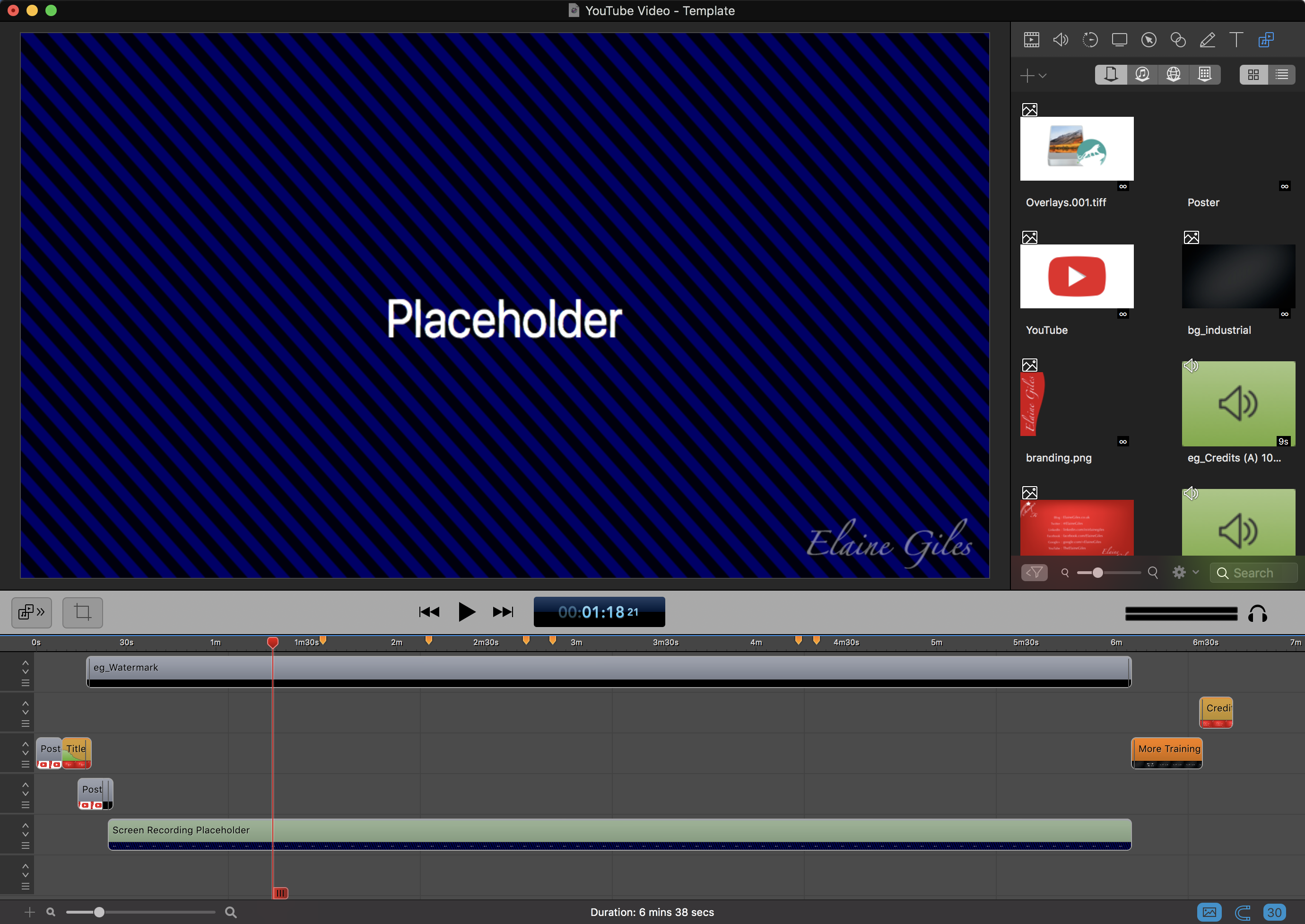 ScreenFlow 8 Placeholders