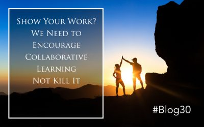 Show Your Work? We Need to Encourage Collaborative Learning Not Kill It