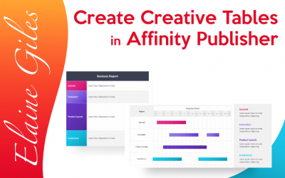 Create Creative Tables in Affinity Publisher